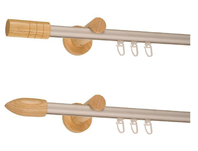 Aluminijumske mat siva garnisne drveni elementi
